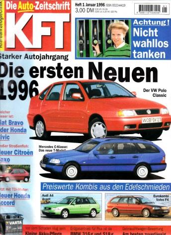 KFT Kraftfahrzeugtechnik - Technische Zeitschrift des Kraftfahrwesens - Jahrgang von 1996/ Hefte 1-12