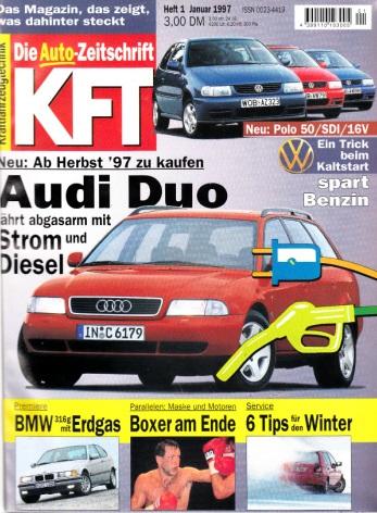 KFT Kraftfahrzeugtechnik - Technische Zeitschrift des Kraftfahrwesens - Jahrgang von 1997/ Hefte 1-12