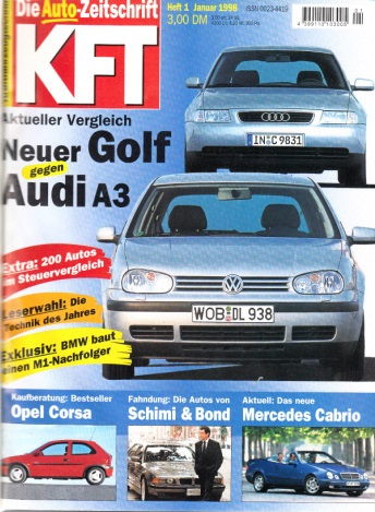KFT Kraftfahrzeugtechnik - Technische Zeitschrift des Kraftfahrwesens - Jahrgang von 1998/ Hefte 1-12