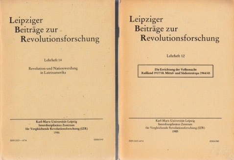 Leipziger Beiträge zur Revolutionsforschung Lehrheft 12 + Lehrheft 14 2 Hefte