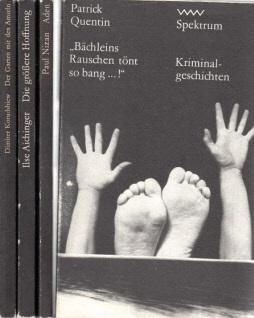 Bächleins Rauschen tönt so bang...! - Die größere Hoffnung - Aden - Der Garten mit den Amseln 4 Bücher