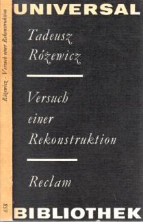 Versuch einer Rekonstruktion - Erzählungen Reclams Universal-Bibliothek Band 658