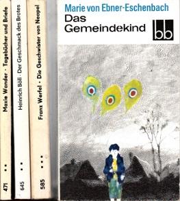 Das Gemeindekind - Tagebücher und Briefe - Die Gescnwister von Neapel - Der Geschmack des Brotes 4 Bücher