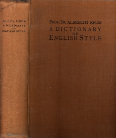 A Dictionary of English Style