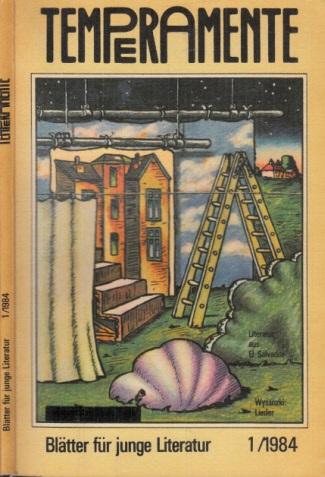 Temperamente - Blätter für junge Literatur 1 + 2/1982; 1 + 2 1983; 1/1984; 1/1986 6 Heftchen