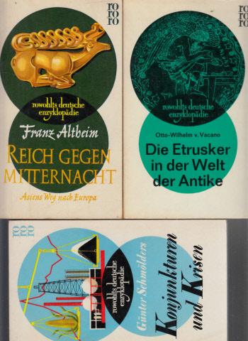 Konjunkturen und Krisen - Reich gegen Mitternacht - Die Etrusker in der Welt der Antike 3 Bücher - Rowohlts Deutsche Enzyklopädie