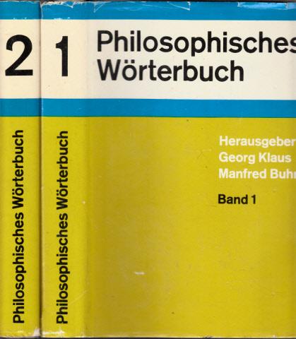 Philosophisches Wörterbuch Band 1 und Band 2