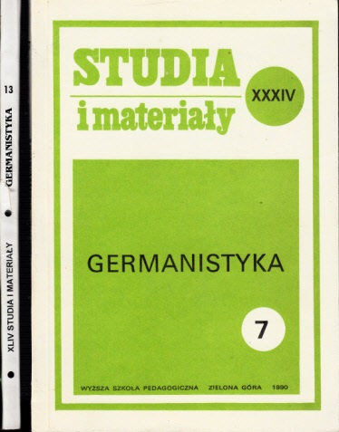 Studia i materialy Germanistyka - Nr. 7, 13 2 Bücher