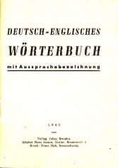 deutsch-englisches Wörterbuch mit Aussprachebezeichnung 0