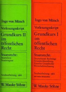 Vorlesungsskript - Grundkurs I im öffentlichen Recht + Grundkurs II im öffentlichen Recht 2 Büchlein