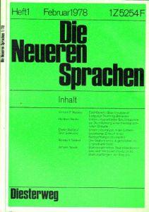 Die Neueren Sprachen - Zeitschrift für Forschung, Unterricht und Kontaktstudium auf dem Fachgebiet der modernen Fremdsprachen - Band 77 (Band 27 N.F.)