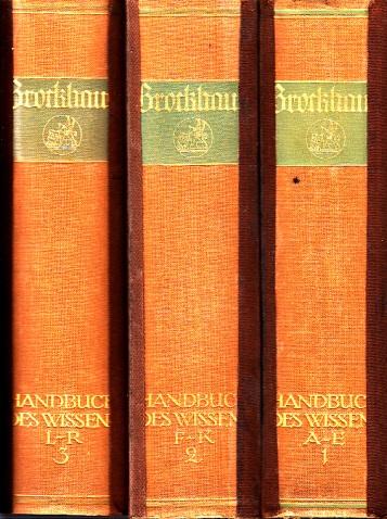 Brockhaus - Handbuch des Wissens in vier Bänden - Band 1 bis 3 3 Bücher
