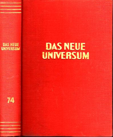 Das neue Universum Band 74 Forschung- Wissen- Unterhaltung - Ein Jahrbuch