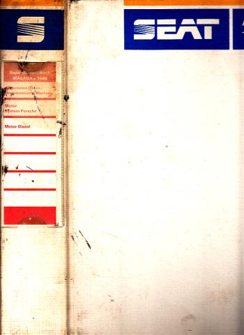 Seat Malaga 1989 - Reparatur-Handbuch Band I