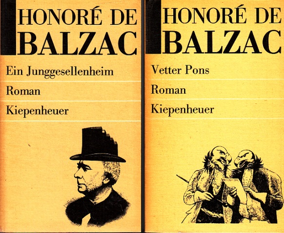 Ein Junggesellenheim - Vetter Pons 2 Bücher