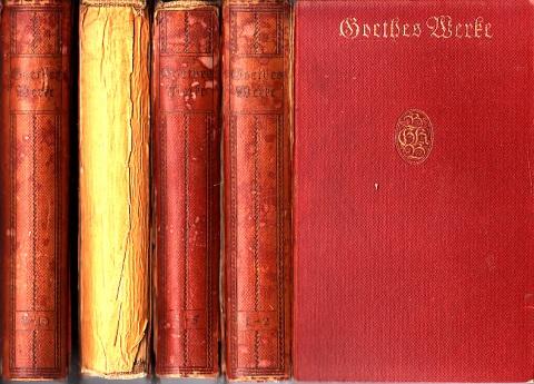 Goethes Werke - Auswahl in zehn Teilen - 4 Bücher