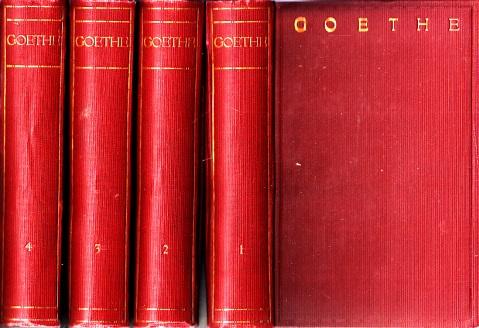 Goethes Werke in sechzehn Bänden - 1. bis 4. Band 4 Bücher