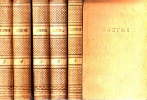 Goethes Werke in Auswahl 1. bis 5. Band