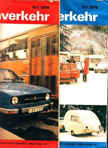Der deutsche Straßenverkehr - Zeitschrift für Verkehr und Wirtschaft - Hefte 10, 11/1978 2 Hefte