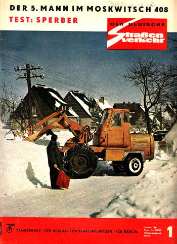 Der deutsche Straßenverkehr - Zeitschrift für Verkehr und Wirtschaft - Hefte 1, 2, 3, 4, 5, 6, 7, 8, 9, 10, 12/1967 11 Hefte