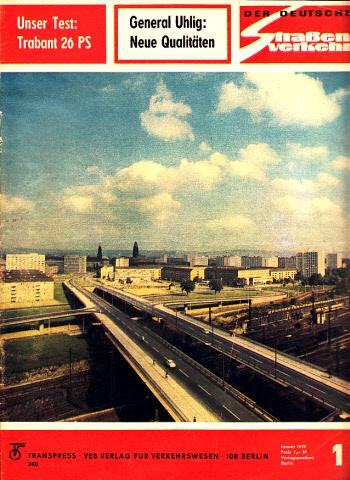Der deutsche Straßenverkehr - Zeitschrift für Verkehr und Wirtschaft - Hefte 1, 2, 3, 4, 5, 7/1970 6 Hefte