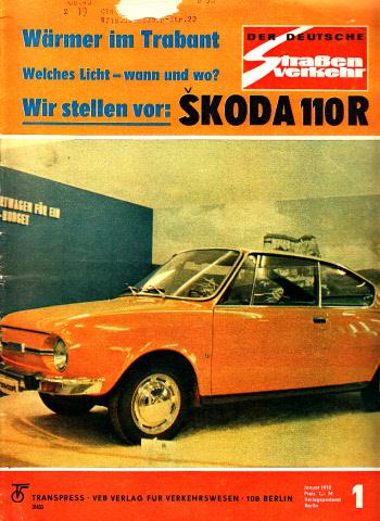 Der deutsche Straßenverkehr - Zeitschrift für Verkehr und Wirtschaft - Hefte 1, 2, 3, 4, 5, 6, 7, 8, 9, 10, 11, 12/1972 12 Hefte