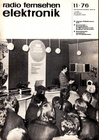 Radio Fernsehen Elektronik - Hefte 11, 12, 14, 17, 18/1976 5 Hefte
