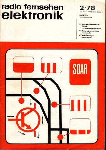 Radio Fernsehen Elektronik - Hefte 2, 3, 4, 5, 6, 7, 8, 9, 10, 11, 12/1978 11 Hefte