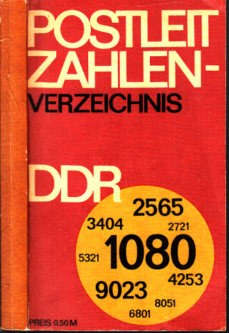 Postleitzahlenverzeichnis der DDR