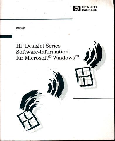 HP DeskJet Series - Software-Information für Microsoft, Windows
