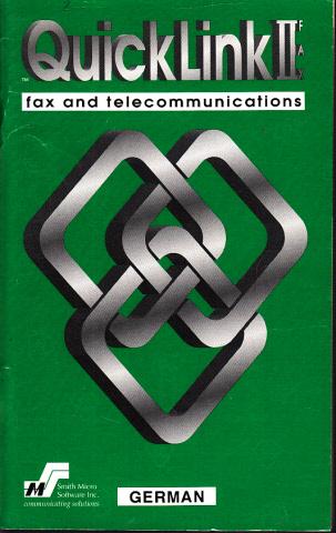 QuickLink II Fax für Windows - Handbuch - Dokumentationsrevision 4