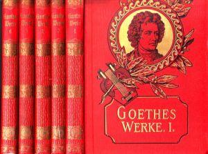Goethes Werke Bände 1, 3, 4, 5, 6 - illustrierte Ausgabe 5 Bücher
