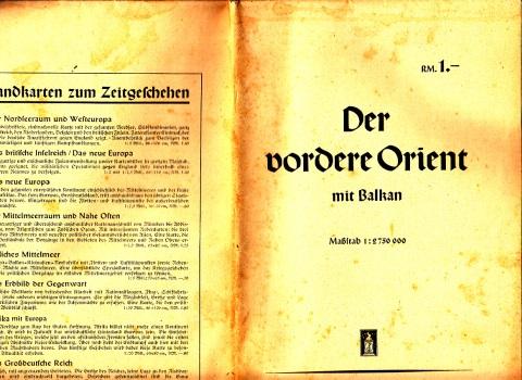 Der vordere Orient mit Balkan Maßstab 1 : 2.750.000