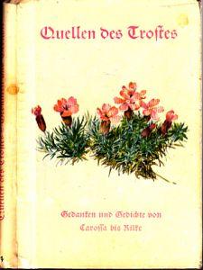Quellen des Trostes - Gedanken und Gedichte von Carossa bis Rilke