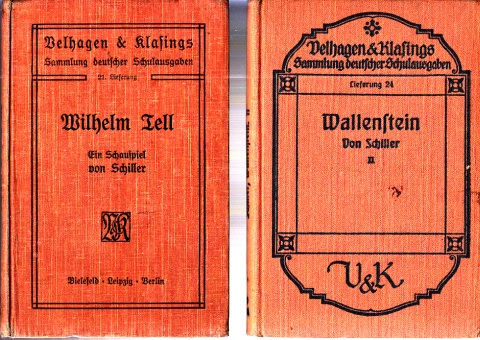Wilhelm Tell, Ein Schaupiel von Schiller - Wallenstein, Ein dramatisches Gedicht von Schiller zweites Bändchen: Wallensteins Tod 2 Bücher