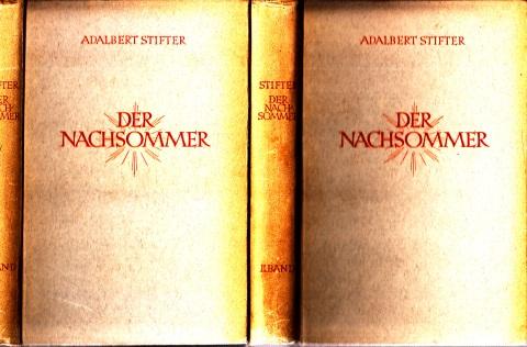 Der Nachsommer zweiter und dritter Band Einbandzeichnung von Max Naumann