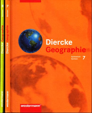 Diercke Geographie für Sachsen, Gymnasium, Klasse 7 + 8 2 Bücher