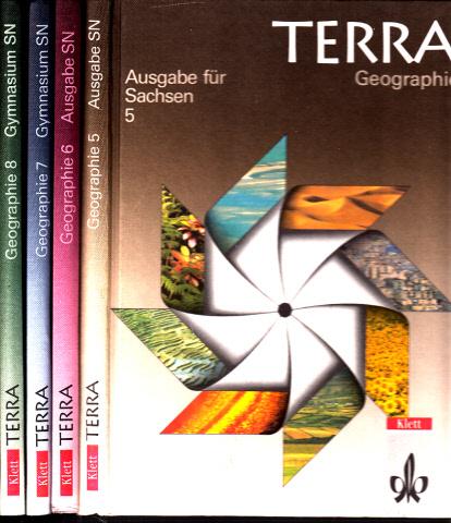 Terra Geographie 5, 6, 7, 8 - Ausgabe für Sachsen 4 Bücher