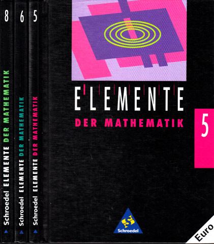 Elemente der Mathematik - 5., 6., 8. Schuljahr 3 Bücher