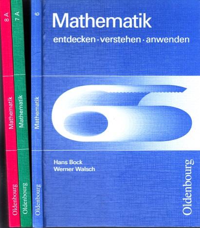 Mathematik 6, 7, 8, entdecken, verstehen, anwenden 3 Bücher