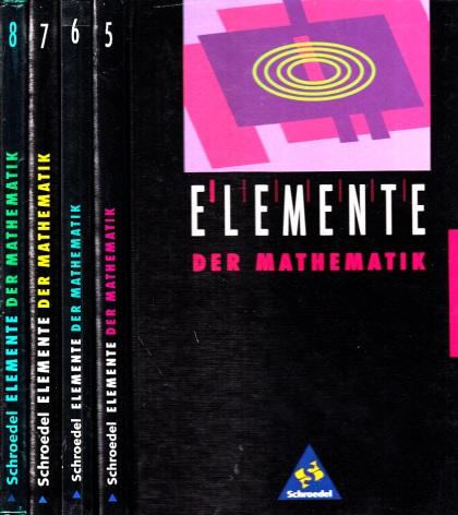 Elemente der Mathematik - 5., 6., 7, 8. Schuljahr 4 Bücher