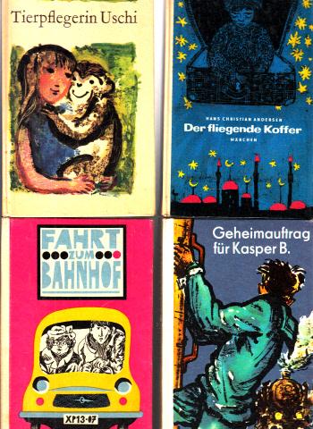 Der fliegende Koffer - Geheimauftrag: für Kasper B. - Tierpflegerin Uschi - Fahrt zum Bahnhof Robinson billige Bücher Band 112, Band 132, Band 135, Band 138