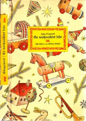 Es weihnachtet sehr - Ein Buch vom Winter, hinterm Ofen zu lesen Buchschmuck von Wilhelm Geißler