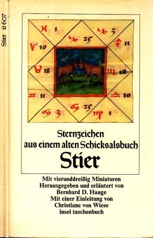 Sternzeichen Stier aus einem alten Schicksalsbuch Mit vierunddreißig Miniaturen