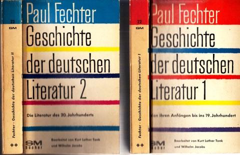 Geschichte der Deutschen Literatur - Band 1 und Band 2 2 Bücher