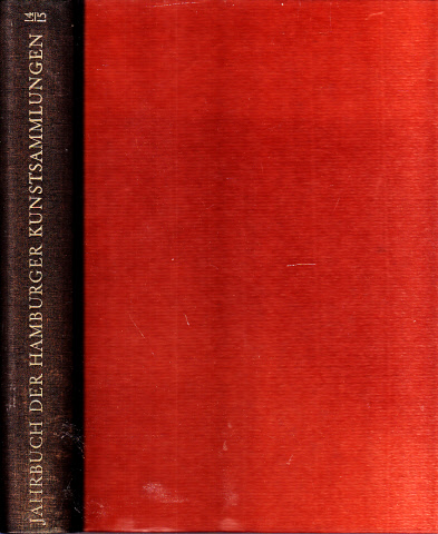 Jahrbuch der Hamburger Kunstsammlungen Band 14/15