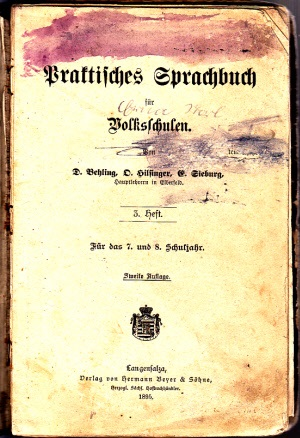 Praktisches Sprachbuch für Volksschulen - 3. Heft für das 7. und 8. Schuljahr