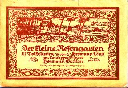 Der kleine Rosengarten - Volkslieder zur Laute oder Gitarre - Heft 3