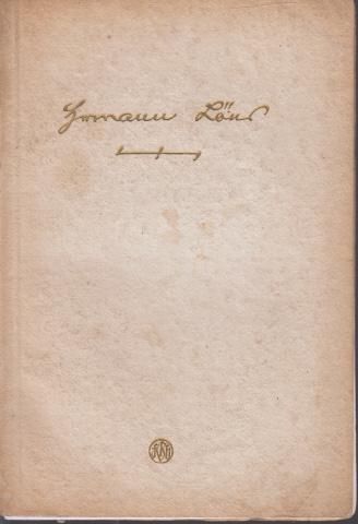 Hermann Löns Mit einem nach dem Leben gezeichneten Bildnis des Dichters von Franz Rolan