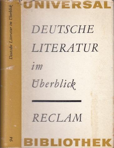 Deutsche Literatur im Überblick Reclams Universal-Bibliothek Band 94